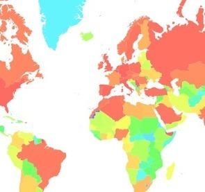Heatmap of France economic partners - FrenchKPI | PME: import, export et internationalisation | Scoop.it