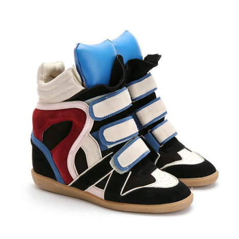 Upere Wedge Sneakers Suede Blue Tongue - $189.37 | UPERE Wedge Sneakers Show | Scoop.it