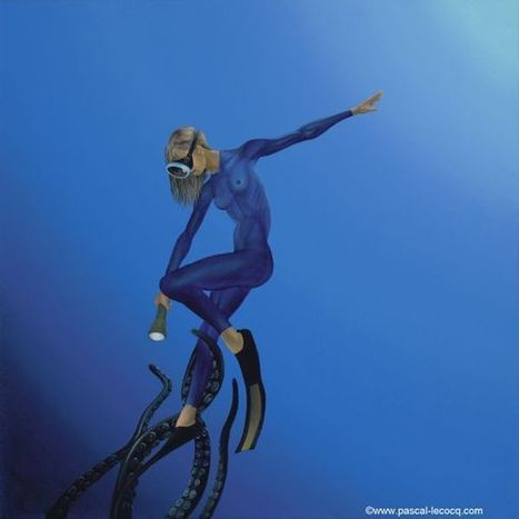 CALENDAR: OPHIUCUS -Serpentaire -  Oil on canvas by Pascal | Art by Pascal, The painter of Blue® | Scoop.it