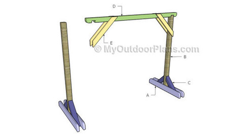 Porch Swing Stand Plans | Free Outdoor Plans - DIY Shed, Wooden Playhouse, Bbq, Woodworking Projects | Garden Plans | Scoop.it