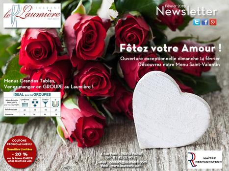 Le Laumière, ouverture excepetionnelle pour la saint-Valentin ! | RESTOPARTNER : des restaurants  de qualités à Paris - France | Scoop.it