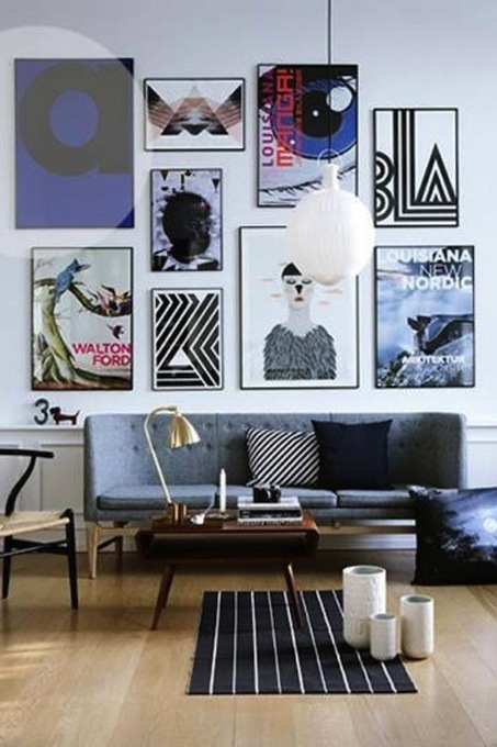 how to: mix and match art wall {video + gray malin giveaway ... | Home Decor | Scoop.it
