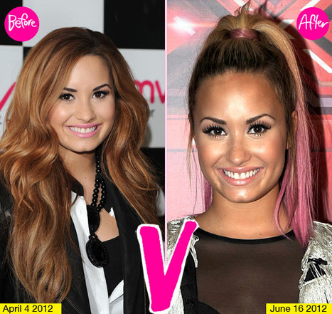Demi Lovato's Hair Makeover: Do You Love Her Pink Ends? | Ultratress | Scoop.it