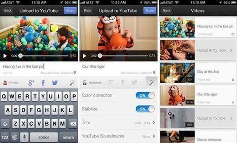 Youtube Capture: una app de Google para grabar vídeos, editarlos y compartirlos (iOS) | Educar con las nuevas tecnologías | Scoop.it