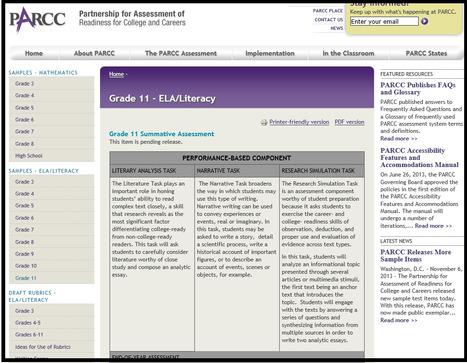 PARCC Releases More Sample Items   PARCC   Common Core Stuff   Scoop.it