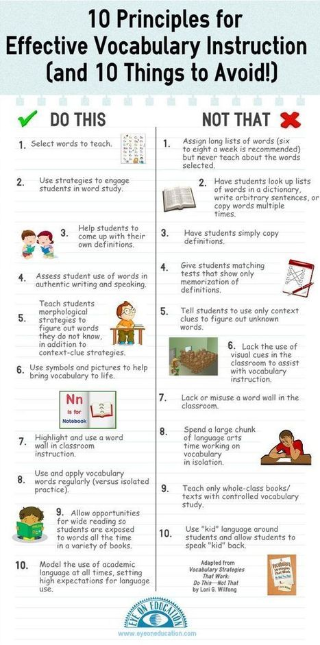 10 Dos & Don'ts For Teaching Vocabulary In Any Content Area | 21st Century TESOL Resources | Scoop.it