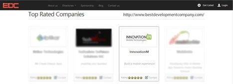 """#InnovationM (www.innovationm.com) featured as """"Top Rated Mobile Development Company"""" on homepage of BDC - the New York based leading online resource platform for best mobile / web & internet marke...   Mobile Web Development   Scoop.it"""