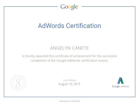 How I Get My Google Adwords Certification?   Who is Angelyn Canete   Pay Per Click Today   Scoop.it