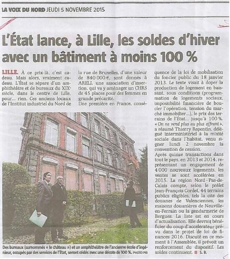 Lille: l'État cède un bâtiment valant 840.000 euros pour... rien | Observatoire des gaspillages | Immobilier | Scoop.it