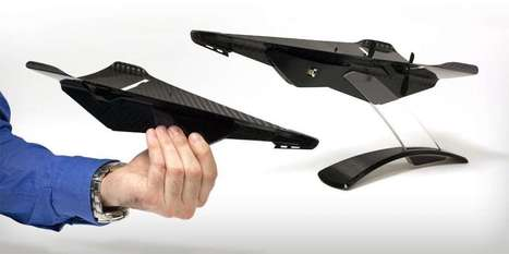 Carbon Fiber Drone Looks Like A Tough Paper Airplane | Human and Technology | Scoop.it