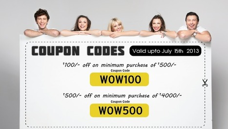coupon codes online | Shopping Discount Coupons India | GrabMore Free Coupon Codes. | Electronics | Scoop.it