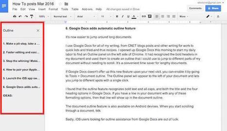 Google Docs adds automatic outline feature | tefl methods | Scoop.it