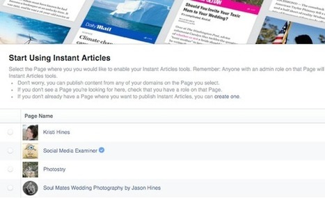 How to Use Facebook Instant Articles for Business | MarketingHits | Scoop.it