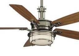 Fanimation FP5220PW Andover Ceiling Fan with Cherry/Walnut Blades, Pewter Finish | MegaShopMart | Luxury Ceiling Fans with Lights | Scoop.it