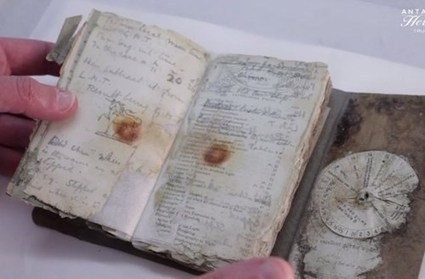 Century-old Notebook Found From Antarctic Trek | Journaling Helps! | Scoop.it