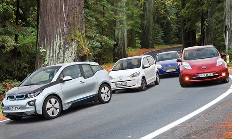 BMW i3 vs. VW e-Up vs. Ford Focus Electric vs. Nissan Leaf | Chefauto | Scoop.it