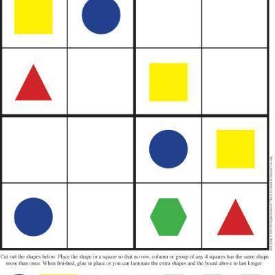 Kindergarten Sudoku Puzzles {Sudoku Printable} — Tip Junkie ... | Kindergarten | Scoop.it