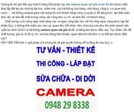 Lắp đặt camera an ninh gia đình giá rẻ tại Hà Nội   Lắp Đặt Camera Quan Sát   lap dat internet fpt   Scoop.it