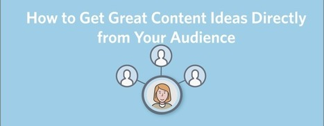 How to Get Great Content Ideas Directly from Your Audience | Business Brilliance & Marketing Moxie | Scoop.it