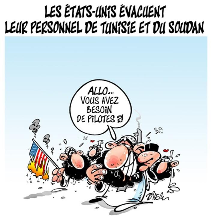 Les Etats-Unis évacuent leur personnel de Tunisie et du Soudan... | Baie d'humour | Scoop.it