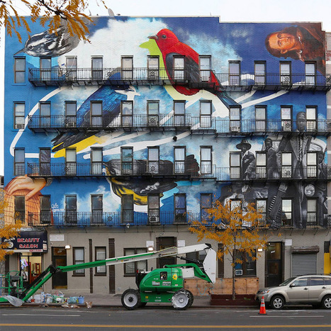Street Art Project Uses Building Facades to Spread the Word About 314 Endangered Bird Species | The Arts and Sustainability | Scoop.it