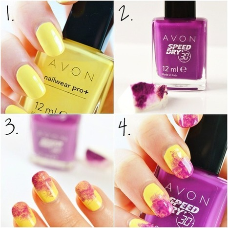 Avon Connects: Avonfabulous Blog: How to do summer dip-dye nails | Makeup | Scoop.it