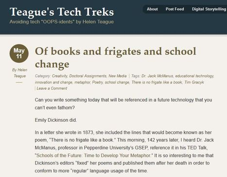 Teague's Tech Treks › Of books and frigates and school change | Thinking, Learning, and Laughing | Scoop.it
