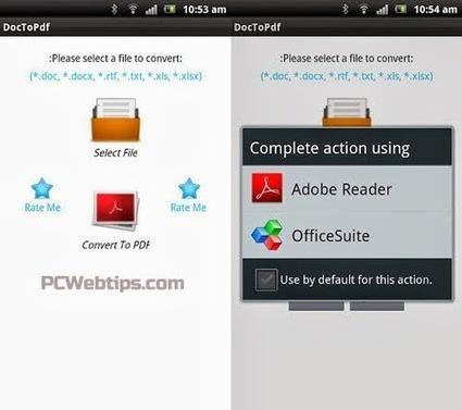 10 Apps Gratis para Convertir PDF en Smartphones & Tablets PCWebtips.com   Android - Aplicaciones y Tips   Scoop.it