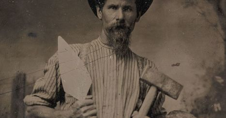 Late 1800s workers pose with the tools of their trades | Curriculum resource reviews | Scoop.it