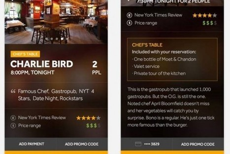 Paid restaurant reservation app lets diners cut the line | JWT WOW | Scoop.it