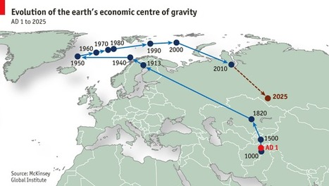 The world's shifting centre of gravity | cartography & mapping | Scoop.it