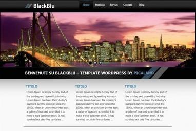Wordpress free theme: Blackblu, tema gratuito di Alfredo Piccione aka Picaland.it | Italian webdesign | Wordpress themes plugin tips | Scoop.it
