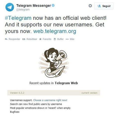 Telegram lanza versión web | CiberOficina | Scoop.it