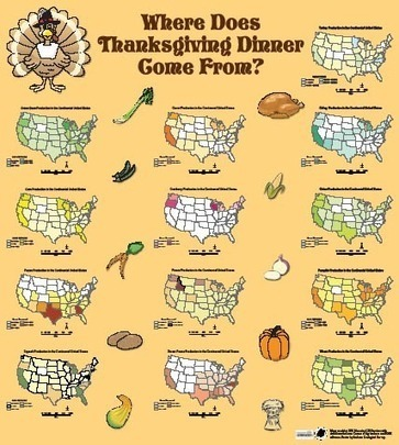 Thanksgiving Maps and Geography - GIS Lounge | AP Human Geography Topics | Scoop.it