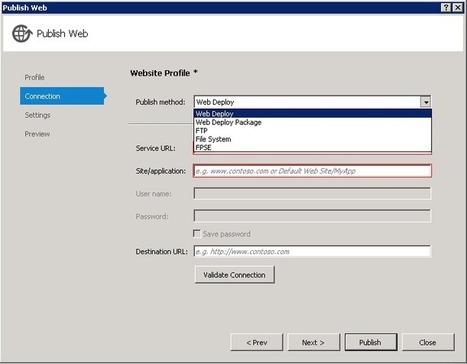 Web Publish Updates with Windows Azure SDK 1.8 - .NET Web ... | Great technical articles to build .Net applications | Scoop.it