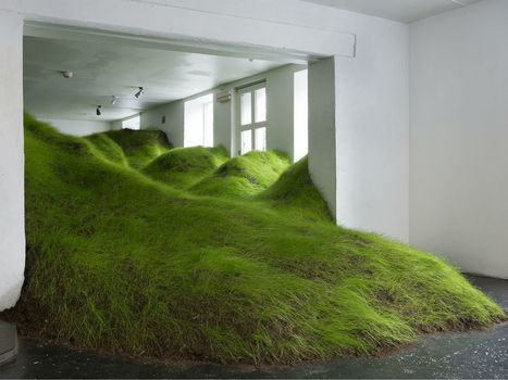#Green #Hills Invade Olso Gallery. #art #nature #landscape #grass #installation | Luby Art | Scoop.it