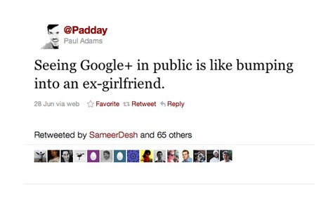 Paul Adams: Seeing Google+ In Public Is Like Bumping Into AnEx-Girlfriend. | The Google+ Project | Scoop.it