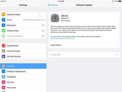 Troubleshooting iOS 9.3 activation on your iPad | Go Go Learning | Scoop.it