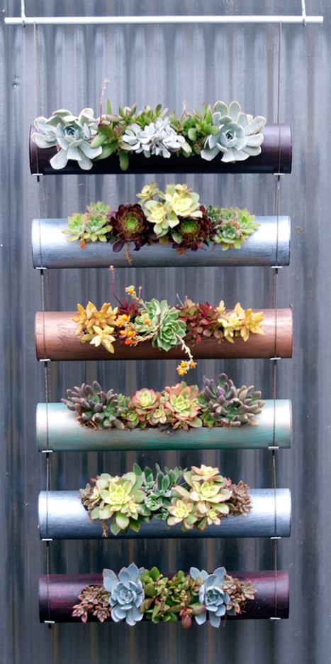 New Indoor-Outdoor Vertical Garden Cylinder Planters | Urban Gardens | Annie Haven | Haven Brand | Scoop.it
