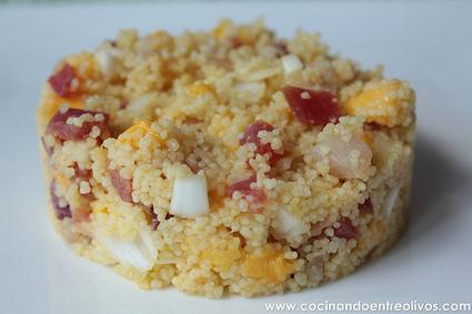 Ensalada de cous cous de marlín y atún ahumados con mango. Paso a paso. | Qué se #cocina en la red | Scoop.it
