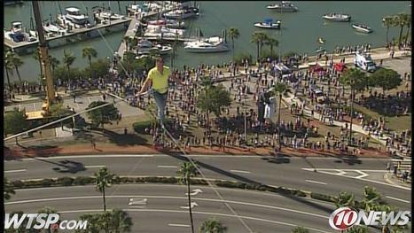 Famed tightrope walker crosses 200 feet above Florida west coast oceanfront highway (VIDEO) | The Billy Pulpit | Scoop.it