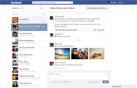 Facebook Messages Update Rolls Out To More Users | Social Media Buzz | Scoop.it