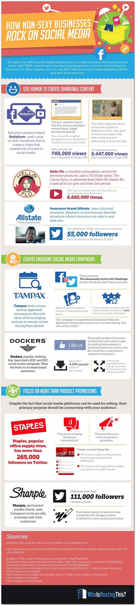 How Non-Sexy Businesses Rock On Social Media [INFOGRAPHIC] | MarketingHits | Scoop.it