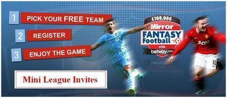 Mirror Fantasy Football Mini League Invite | Football Stadium Guides | Scoop.it