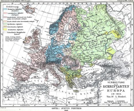 Broken Letters: A Typogeography of Europe | Strange Maps | Datavisualisation & géopolitique | Scoop.it