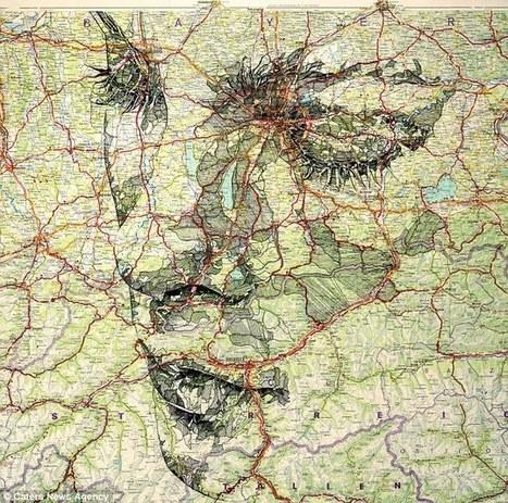 They're out of this world! Artist creates series of incredible portraits out of maps | Las imagenes en la enseñanza de la historia | Scoop.it