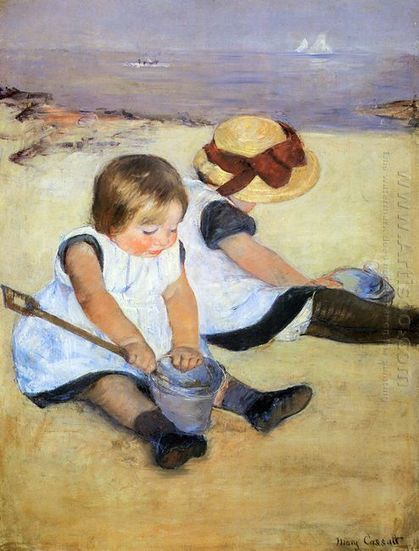 Oil painting reproduction: Mary Cassatt Children Playing On The Beach - Artisoo.com | arts&oil | Scoop.it