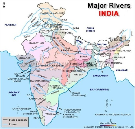 Major Rivers of India | Year 7 History: River Civilisations in Ancient India | Scoop.it