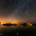 The Milky Way over Lough Corrib with the lights of Galway illuminating the horizon. Image Conor Ledwith  - via @MeteoTimesIRL | Ireland Travel | Scoop.it