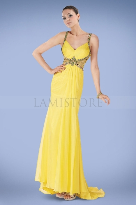 Distinguished A-line Prom Dresses Gown with Dazzling Crystals and Gentle Ruches : Lamistore.com | Lamistore Fashion Prom Dresses | Scoop.it